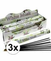 60 stokjes ontspanning wierook witte musk