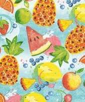 60x papieren servetjes zomerfruit print 33 x 33 cm