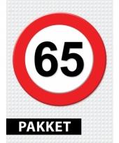 65 jaar verkeersbord versiering pakket