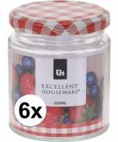 6x bewaar pot 250 ml met draaideksel