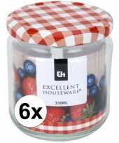 6x bewaar pot 350 ml met draaideksel