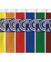 6x knutsel crepe vouw papier basis kleuren 250 x 50 cm