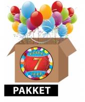 7 jaar party artikelen pakket