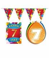 7 jarige jaar feest versiering setje