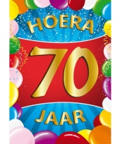 70 jaar thema mega deurposter