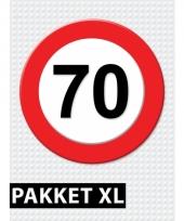 70 jaar verkeersbord versiering xl pakket