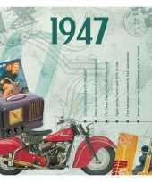 70ste verjaardag cd kaart