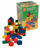 75 bouwblokken van hout