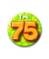 75 jaar button