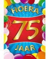 75 jaar thema mega deurposter