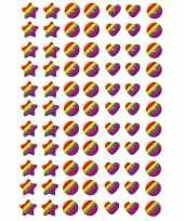 77x regenboog stickertjes voor kinderen