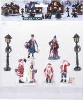 7x kerstversiering kerstdorp figuurtjes inwoners type 2