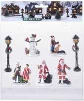 7x kerstversiering kerstdorp figuurtjes inwoners type 3