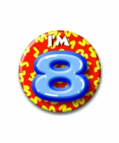 8 jaar button
