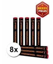 8 voordelige oranje fakkels