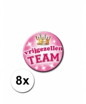 8 vrijgezellen team buttons