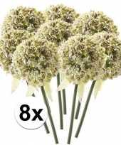 8 x witte sierui 70 cm kunstplant steelbloem