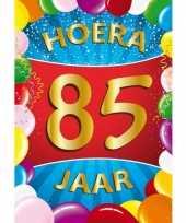 85 jaar thema mega deurposter