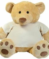 86 cm grote knuffelbeer met-shirt