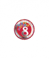 8e verjaardag helium ballon