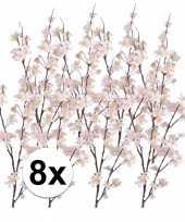 8x appelbloesem kunst tak roze84 cm