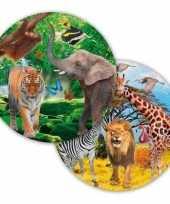 8x dieren verjaardag bordjes 23 cm