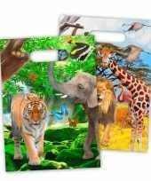 8x dieren verjaardag feestzakjes 18x29 cm