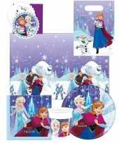 8x frozen feestartikelen borden 23 cm papier karton