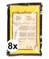 8x geel kleurpoeder 100 gram