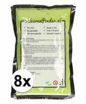 8x groene kleurpoeder 100 gram