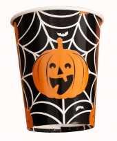 8x halloween wegwerp drinkbekers