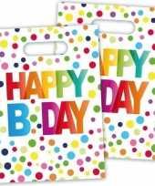 8x happy birthday feestzakjes 22 cm
