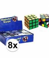 8x puzzels kubus 7 cm cadeautjes