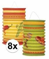 8x stuks mexico thema lantaarns