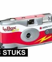 8x wegwerp cameras met 27 fotos