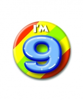 9 jaar button