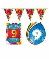 9 jarige jaar feest versiering setje