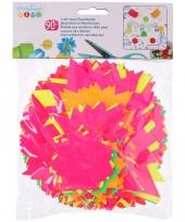90 felgekleurde knutselsterren van karton
