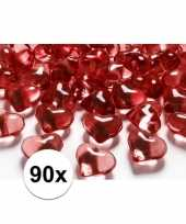 90 hart edelsteentjes rood 2 cm