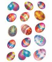 90x pasen stickertjes met paaseieren voor kinderen