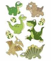9x dinosaurussen met wiebeloogjes stickertjes voor kinderen