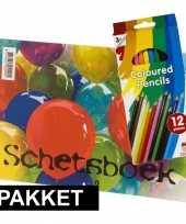 A4 schetsboeken met kleurtjes
