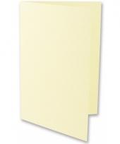 A6 formaat kaarten in ivoor kleur 5x
