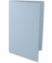 A6 formaat kaarten in lichtblauw 5x