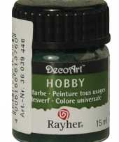 Acrylverf in de kleur donkergroen 15 ml