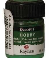 Acrylverf in de kleur groen 15 ml