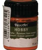 Acrylverf in de kleur oranje 15 ml