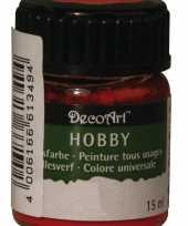 Acrylverf in de kleur rood 15 ml
