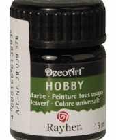 Acrylverf in de kleur zwart 15 ml