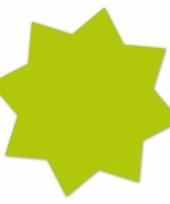 Actie sterren neongroen 18 cm